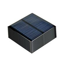 SUNYIMA 10 sztuk panele słoneczne polikrystaliczne 5 5V 80MA polikrystaliczne ogniwa słoneczne DIY ładowarka solarna System Sunpower 60*60MM tanie tanio Panel słoneczny Krzem polikrystaliczny None