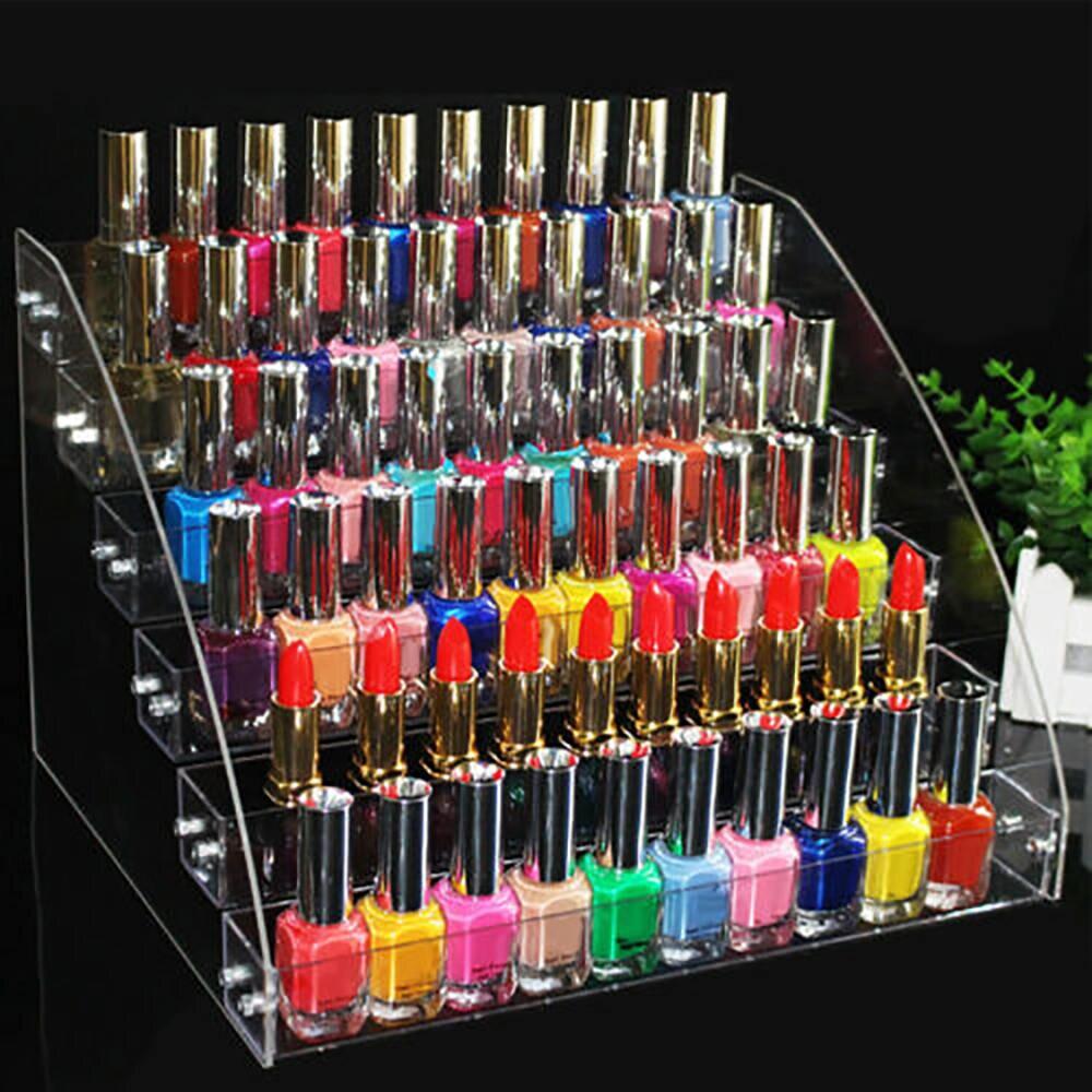 Transparent Clear Nail Polish Rack Organizer Display Holder Shelf Stand Cosmetic Nail Polish Holder