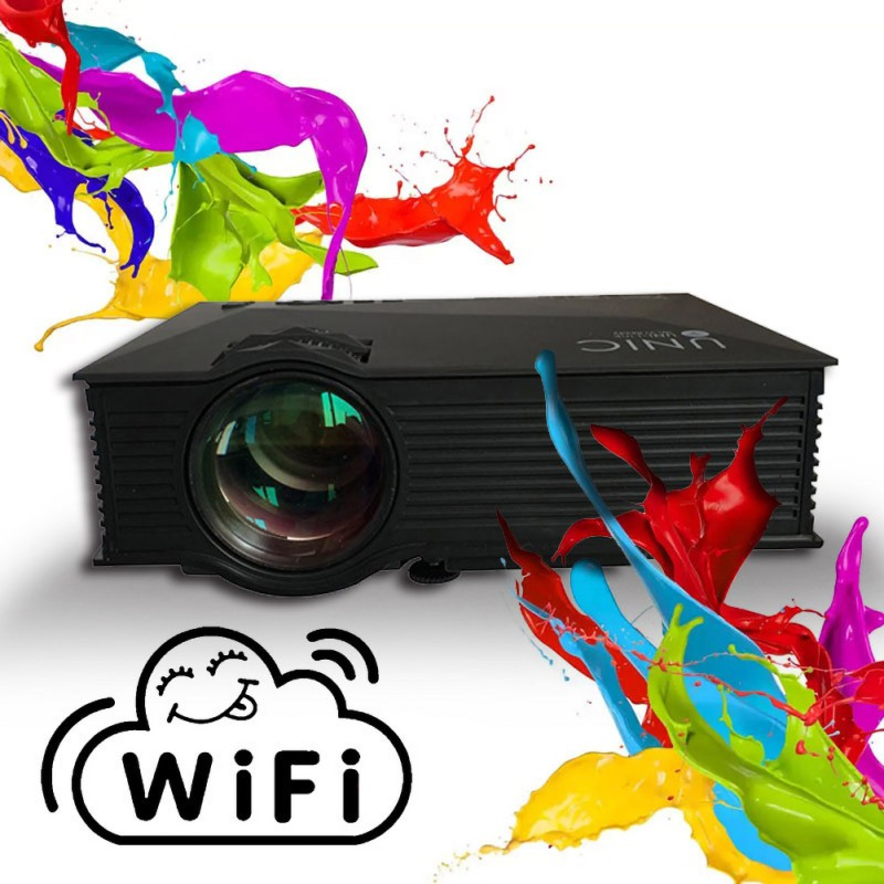 UC46 UC68 WIFI Projector Smartphone Portable Video Projector Euro Plug For Home Entertainment