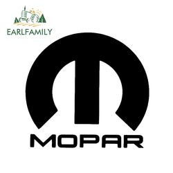 EARLFAMILY 13cm Mopar Logo for Ram Charger Challenger Window Sticker Vinyl Decal Car Styling Accessories Black/Silver