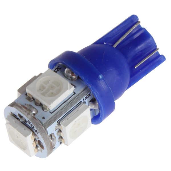 T10 LED W5W 5-SMD 5050 Super Terang Lampu LED 194 168 2825 Baji Lampu Sumber Penggantian Lampu Interior Sepeda Motor Lampu panas