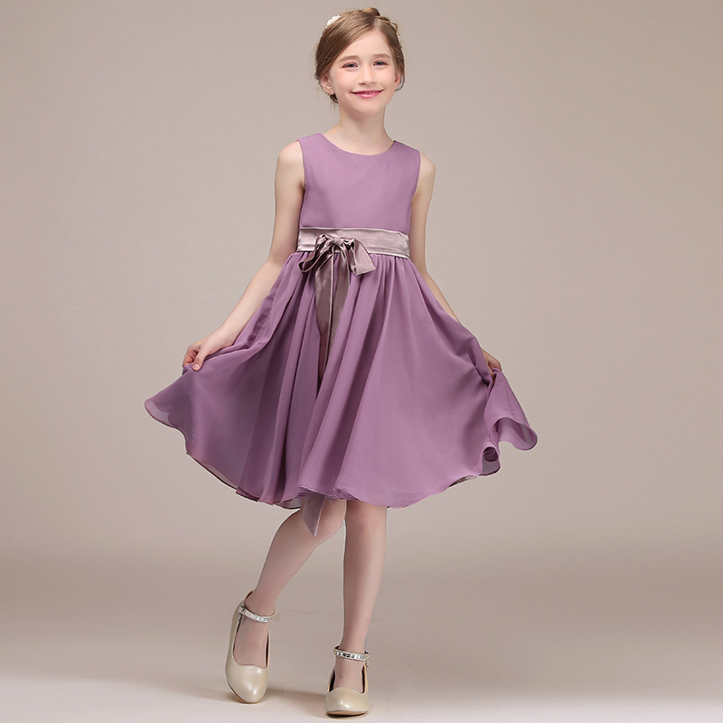 Girls Dress Autumn Clothing 2019 New Style Fashion Korean-style Large Children's Chiffon Princess Dress Little Girl Formal Dress