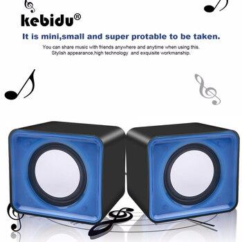 kebidu Universal USB 2.0 Music Speaker 3.5mm Pulg Mini Music Stereo Speakers For Multimedia Desktop Computer Notebook 1