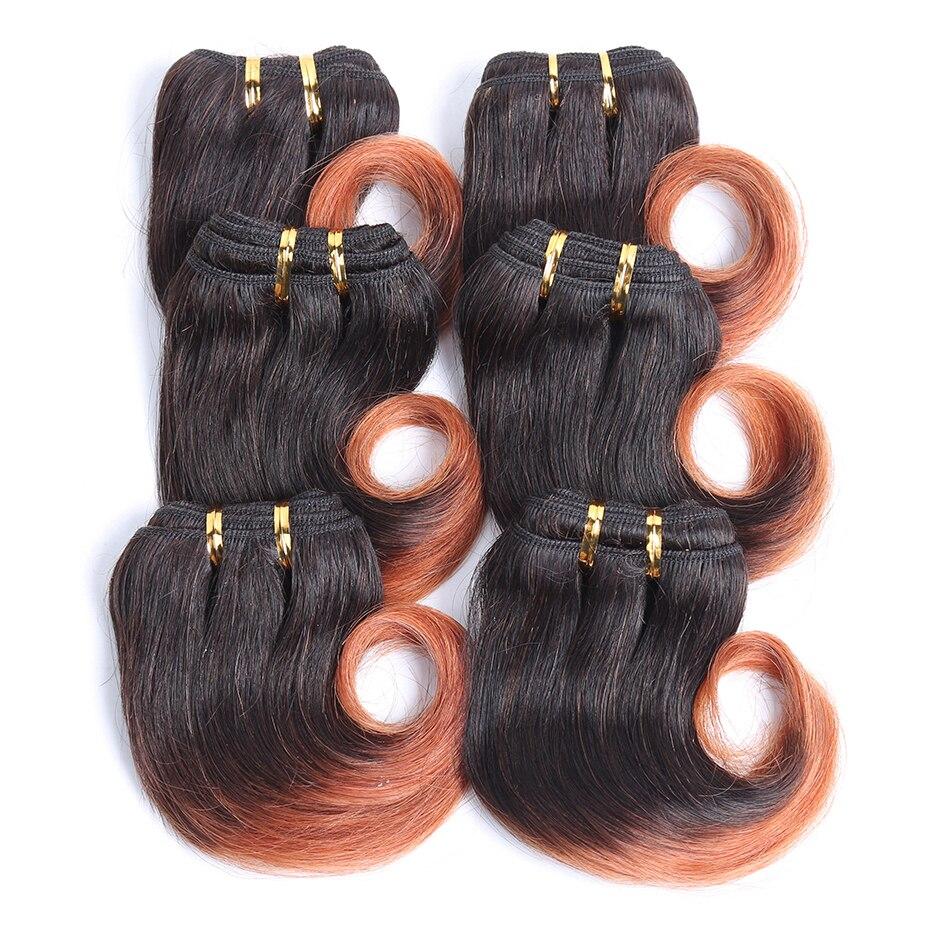 UR beauty Hair 30 г/шт. волнистые пряди средней плотности 8 дюймов бразильские волосы remy T1B/30 цветов 100% человеческие волосы пряди