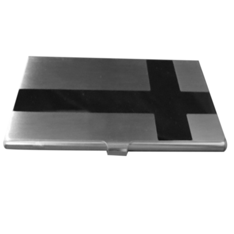 Stainless Steel Box Cross Glossy Transmission Box Business Card Credit Card Holder