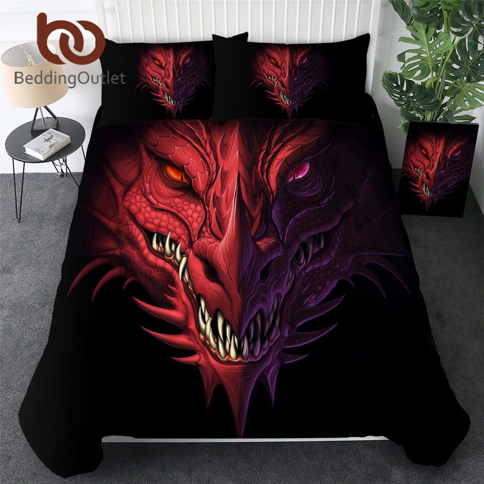 Beddingoutlet Bedspreads Head Demon-Game Dragon Home-Textiles Queen 3d-Print Teen Boys