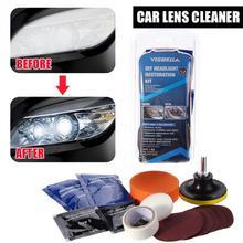 цена на DIY Headlight Polishing Restoration Kits Headlamp Clean Paste Systems Car Care Wash Head Lamp Brightener Repair Paint Care