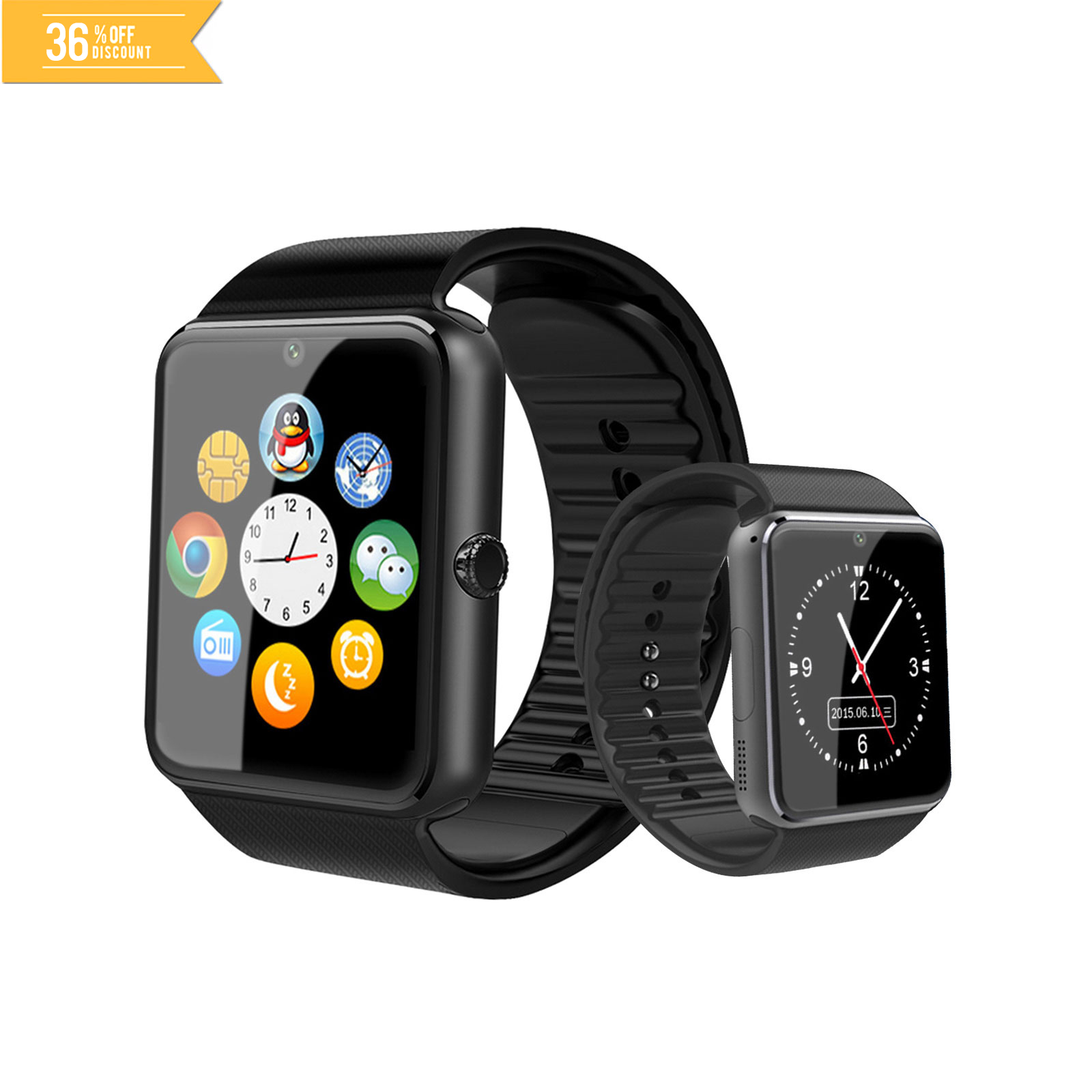 GT08 Bluetooth Smart Watch NFC Phone Andriod IOS Touch Screen Support Sim Card TF Memory Card with Camera Smart Clock GT08 Watch