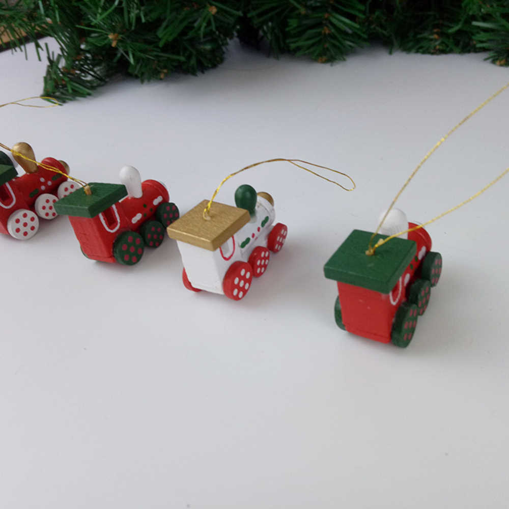 Mới 6 Đầu Máy Xe Lửa Mặt Dây Chuyền Cây Giáng Sinh Treo Đồ Trang Trí Bộ Giáng Sinh Xe Lửa Trang Trí Cho Gia Đình Năm Mới Xmas Trang Trí
