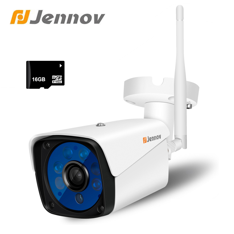 Jennov 1080P IP Camera Wifi Home Security Outdoor HD Video Surveillance Security Cameras Built-in SD Card Slot Onvif Wifi Camera