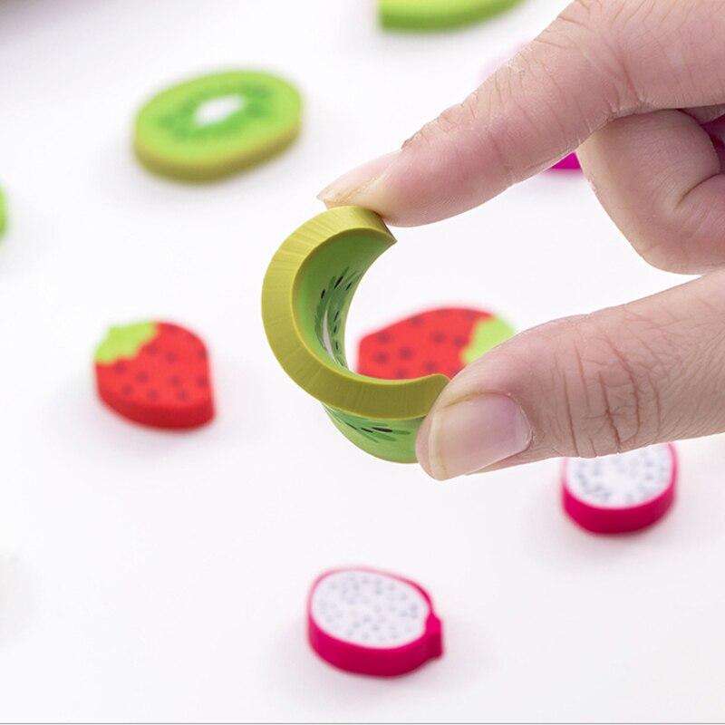 20packs/lot Creative Fruit Eraser Rubber Eraser Primary School Student Prizes Gift Stationery