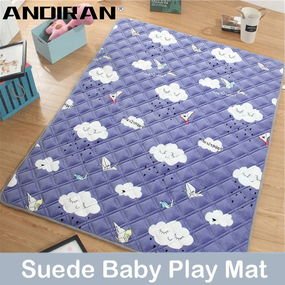 1.5CM Baby Play Mat 180X200CM Suede Pad For Children Thickening Baby Crawling Mat Machine Washable Cushion Rug