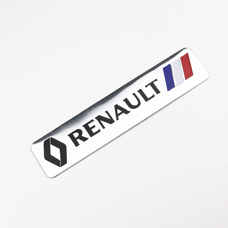 Car Styling 3D Aluminium Stickers Emblem Badge Decal For Renault Megane 2 3 Duster Logan Clio Laguna 2 Captur Body Decoration