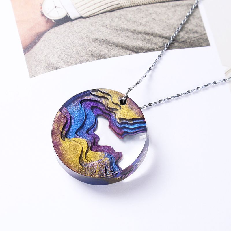 Silicone Pendant Mould DIY Crystal Island Mountain Resin Epoxy Mold For Jewelry