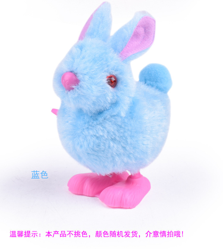 Spring Bunny Jumping Winding Plush Toys Spring Little Bunny Fun Classic Cartoon Model Small Animals