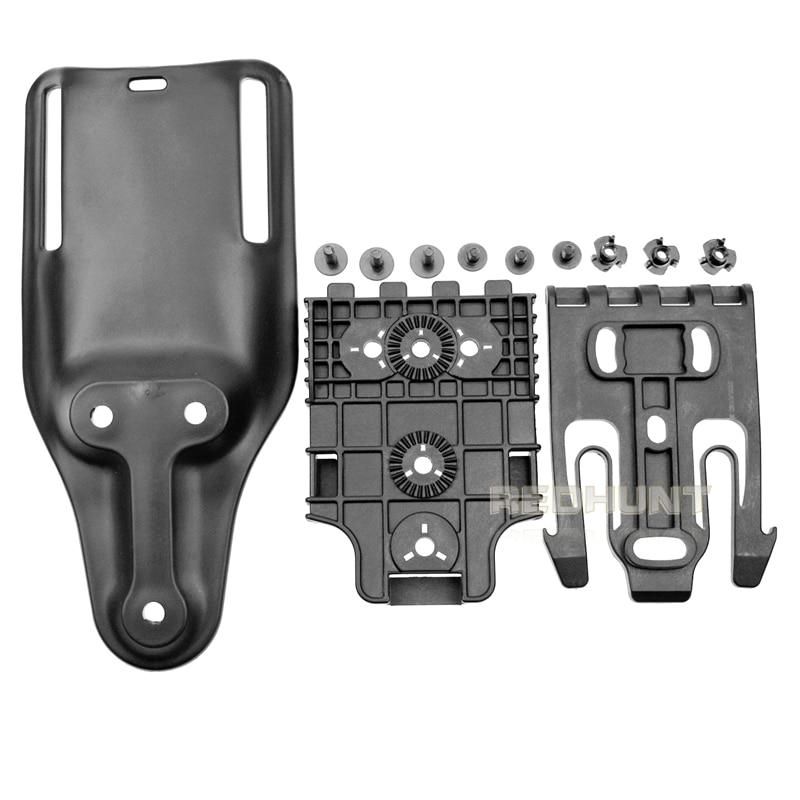Quick Locking System Kit With QLS 19 And QLS 22 Polymer Hunting Gun Holster Glock 17/USP/M9 Belt Platform Set