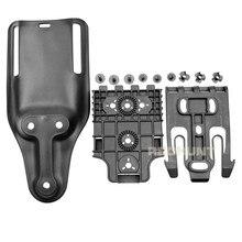Kit de sistema de bloqueio rápido com qls 19 e qls 22 polímero caça arma coldre glock 17/usp/m9 cinto plataforma conjunto