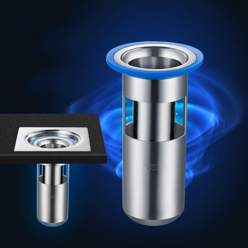 Kitchen Floor Drains Stainless Steel Hidden Sewer Core Bathroom Deodorant Waste Drain Strainer Cover Anti-odor Backflow Filter