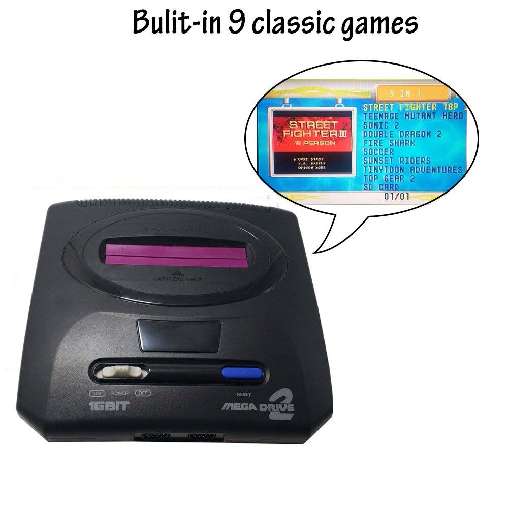 2019 nouveau rétro Mini contrôleur de Console de jeu vidéo TV pour Sega MegaDrive MD2 16 bits dorigine avec sortie AV Double manette de jeu filaire