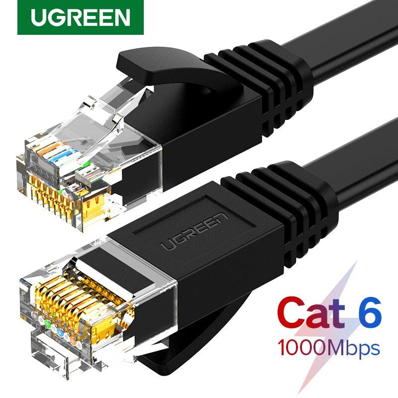 Сетевой кабель Ugreen Cat6, сетевой кабель UTP CAT 6 RJ 45, сетевой кабель 10 м/50 м/100 м, патч-корд для маршрутизатора ноутбука, сетевой кабель RJ45
