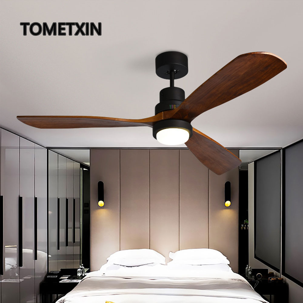 Official Website Wooden Fans Ceiling Fan With Lights Remote Control Wooden Lamp Light Lighting Home Living Room 42 Inch 52 Inch