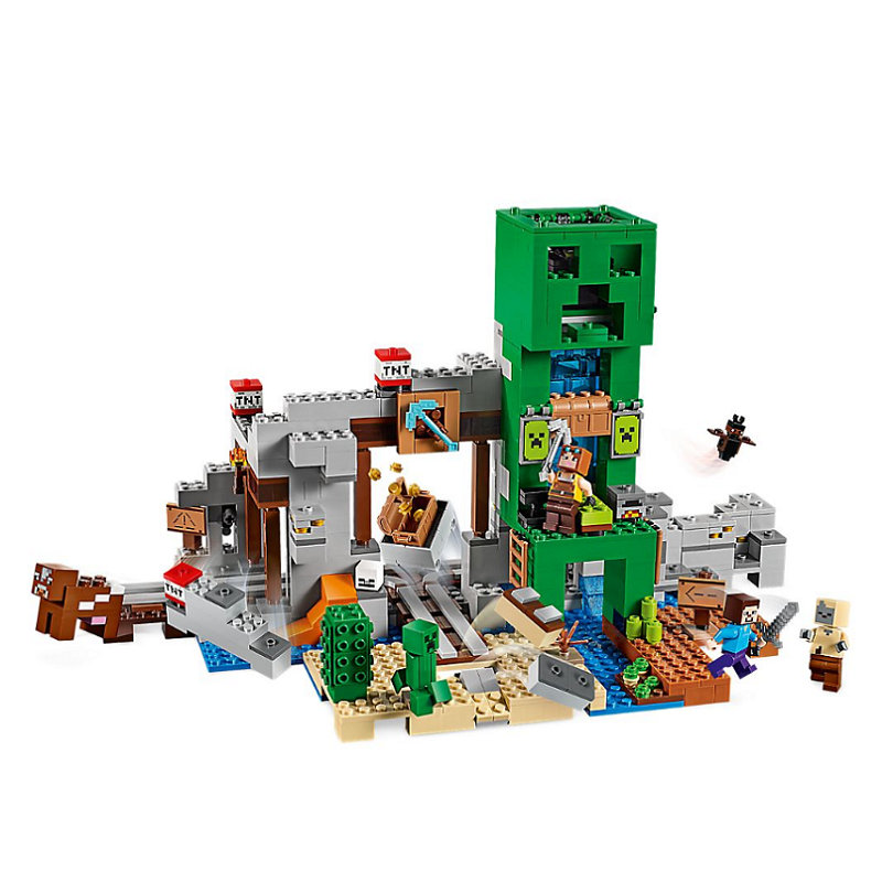 The Creepered Mine  Building Blocks With Steve Action Figures Compatible LegoINGlys MinecraftINGlys Sets Toys For Children 21155 2