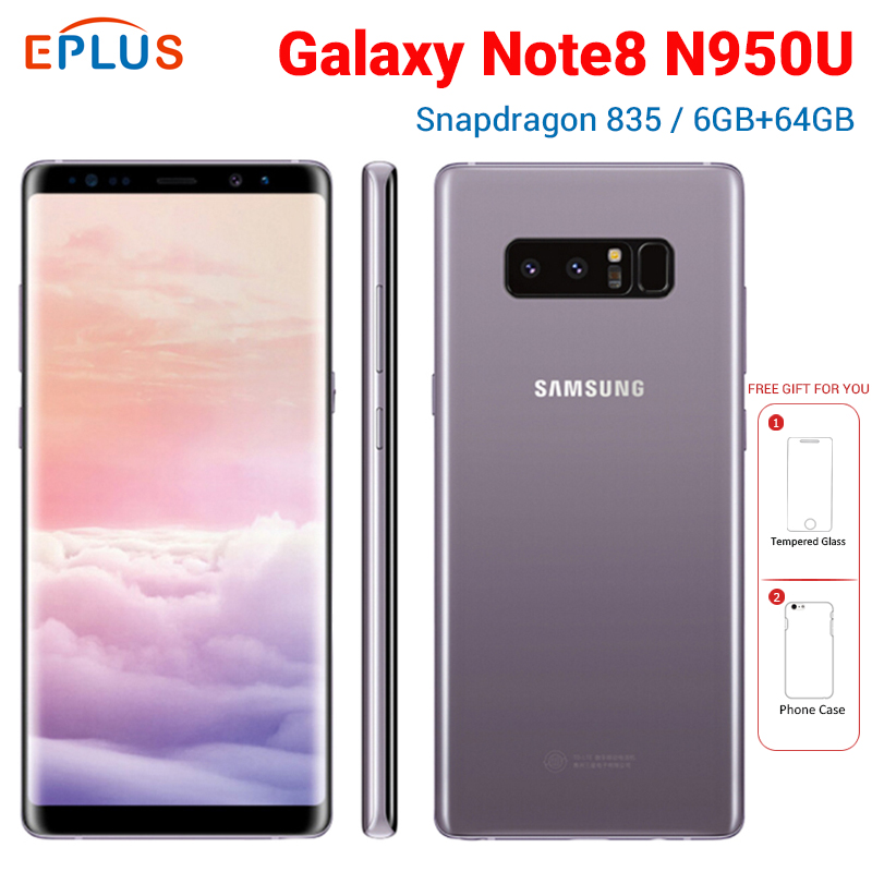 Samsung Galaxy Note8 Note 8 N950U AT&T Mobile Phone 4G LTE 6GB RAM 64GB ROM Snapdragon 835 Octa Core 6.3