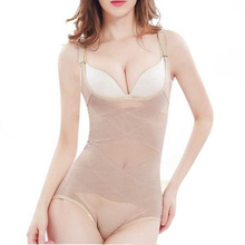 New Women Polyester Bodysuit Underwear Body Shape Corset Siamese Triangle Shapper After Pull-Off Lace