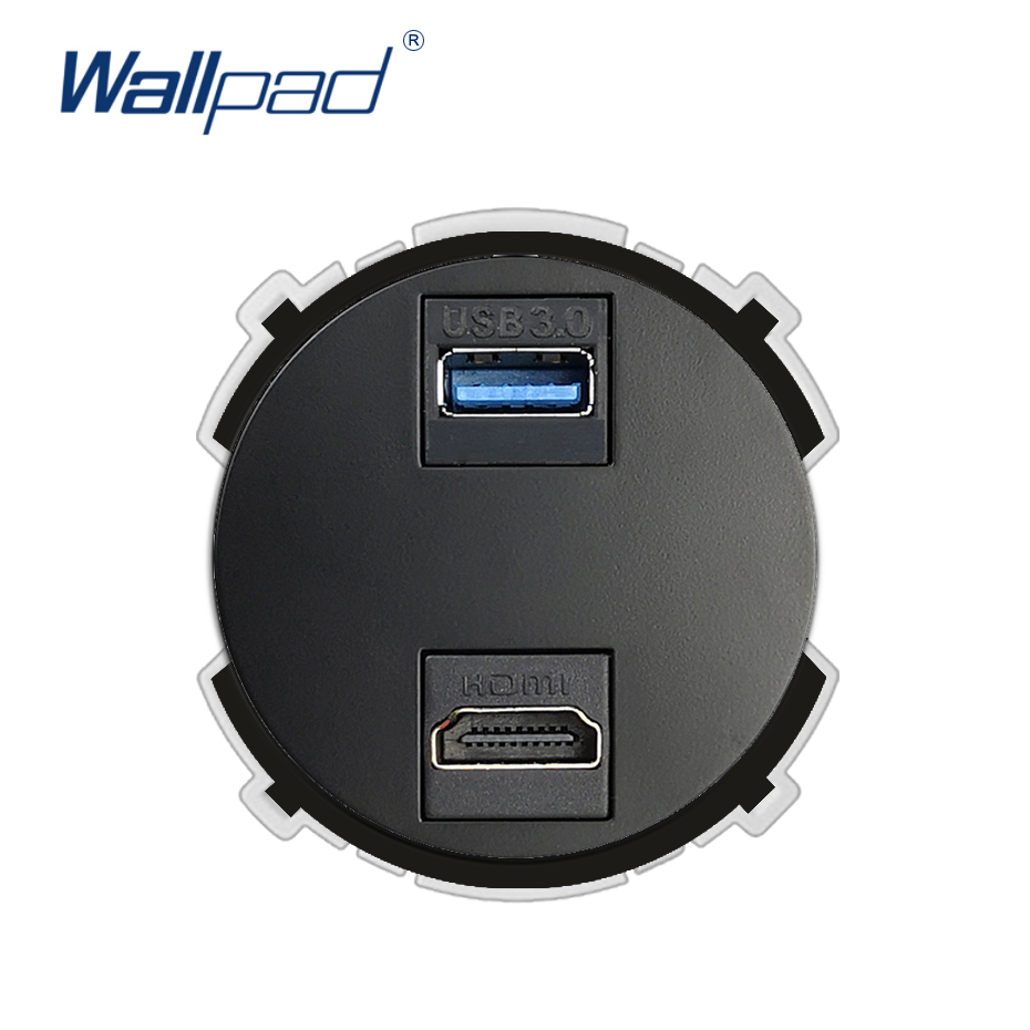 Wallpad HDMI USB 3.0 Wall Socket Function Key Only For Data Transmission Free Combination