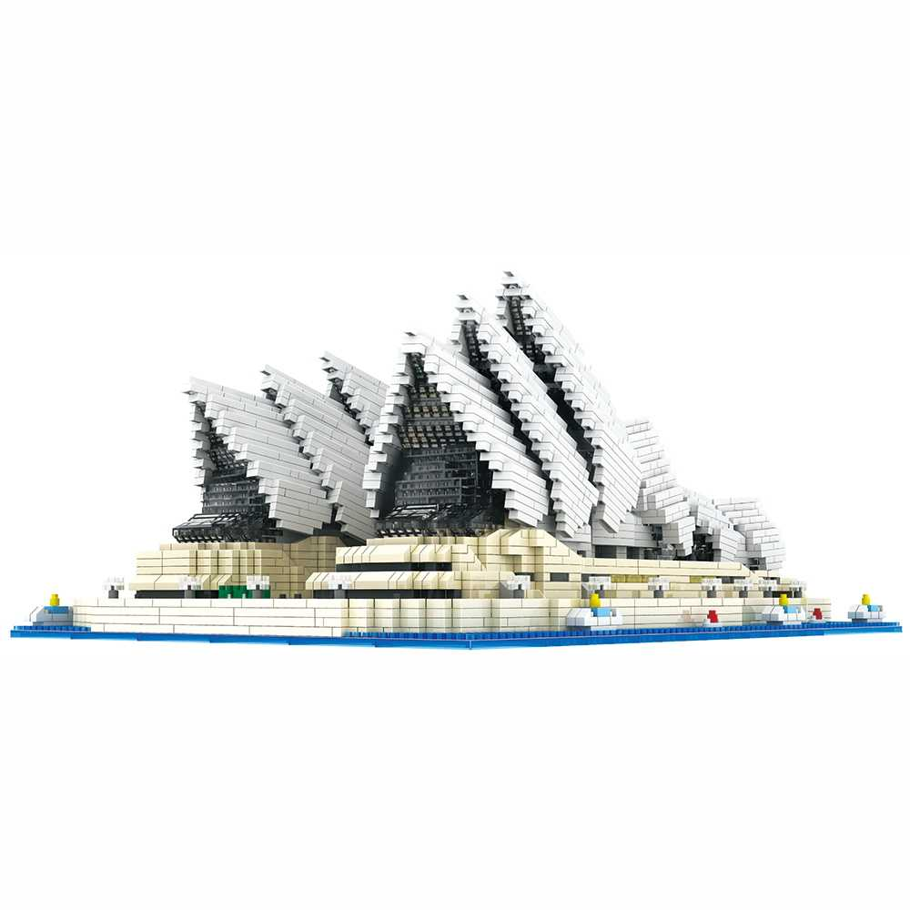 DIY Architecture Blocks Model Sydney Opera House Creative Diamond Particles Building Bricks Kid Educational Toys Building Blocks