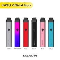 In Stock!!! UWELL Caliburn Portable System Kit 2ml Pod Cartridge 11W 520mAh Electronic Cigarette Kit Vape Pod