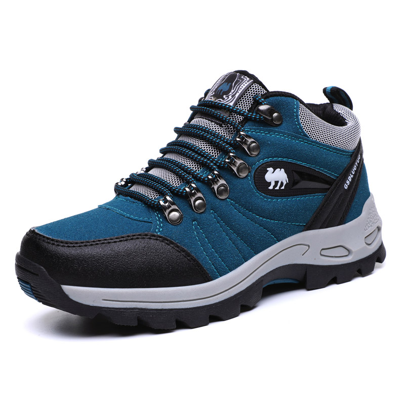 Mens Outdoor Hiking Shoes Waterproof Woman Winter Nonslip Trekking Boots Suede Leather Unisex Climbing Walking Sports Shoes|Hiking Shoes| |  - title=