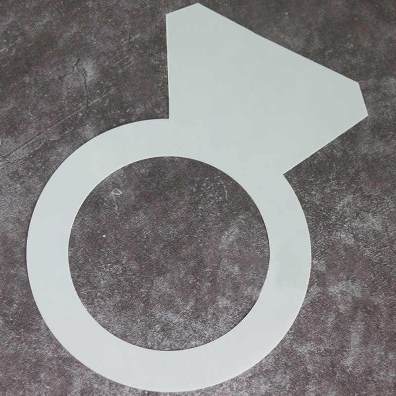 Molde con forma de anillo de diamante para pasteles, herramientas de decoración de galletas para mascotas, accesorios de cocina para hornear pastel de Chocolate de 8/10/12/14 pulgadas