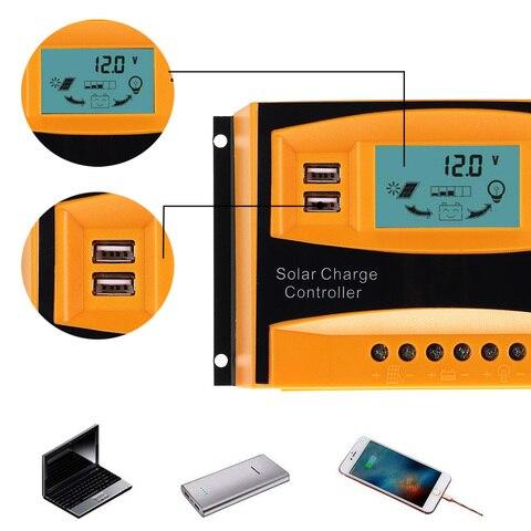 24 v display lcd reguladores de carga
