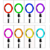 10   RGB LED Ring Light with Tripod Stand Tablet Phone Holder for Selfie Photo YouTube Tiktok Video Streamming Colorful LED Lamp flash sale
