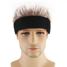 Men Women Novelty Hip Hop Beanie Hat with Spiked Fake Hair Funny Retro