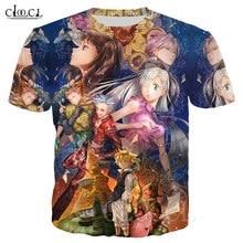 Nuevo los siete pecados mortales 3D divertido Anime camisetas Nanatsu No Taizai Harajuku camisetas Tops camisetas Oversized Top