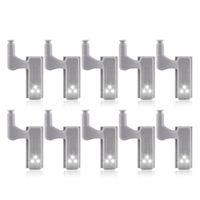 10Pcs Schrank Schrank Schrank LED Scharnier Licht Smart Sensor Lampe Kalt weiß|Unterschrankleuchten|Licht & Beleuchtung -