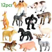 Модель животного 12 шт имитация кенгуру лось верблюд Горилла