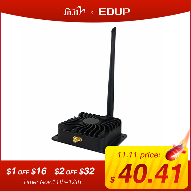 EDUP 8W Wifi Signal Booster 2.4Ghz 802.11n Wireless Broadband Amplifiers Repeater for WiFi Router Extender Adapter EP AB003