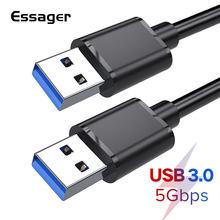 Essager USB vers USB rallonge Type A mâle vers mâle USB 3.0 Extender pour radiateur disque dur Webcom USB3.0 rallonge