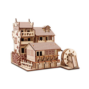 Wooden 3D Building Model Toy Gift Puzzle Hand Work Assemble Game Woodcraft Construction Kit Chinese Ancient Huang He Tower Build ching he huang ching's chinese food in minutes