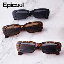 Epicool clássico retro óculos de sol feminino pequeno quadrado quadro óculos de sol senhoras oceano lente oculos uv400