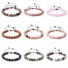 30 styles Natural stone bracelets various colors stone beaded healing bracelet jewelry for women men lover friend couples family