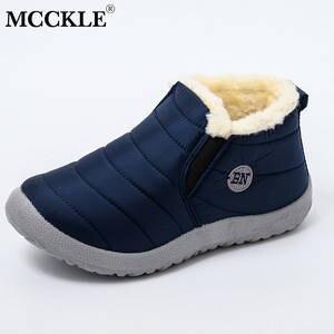 MCCKLE Women Shoes Footwear Snow-Boots Ultralight Warm Female Waterproof Winter Slip-On