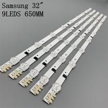 Kit 5 pçs 9led 650mm led barra de tira backlight para samsung ue32f5000 D2GE 320SC0 R3 2013svs32h CY HF320AGEV3H BN96 26508a