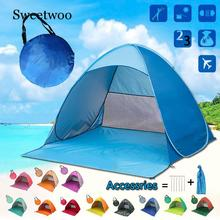 Outdoor Beach Tent Ultralight Folding Tent Pop Up Automatic Open Tent Family Tourist Fish Camping Anti-UV Fully Sun Shade цена