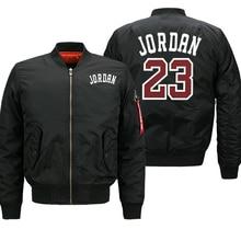Jordan 23 Mens Thick Jackets Printed Male Coats Fashion Streetwear Casual Bomber Jacket Winter Men 2019 Autumn Warm Zipper Coat