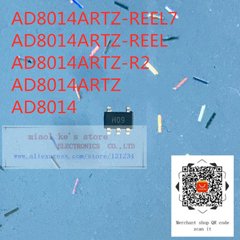 [10pcs/1lot]100%New original: AD8014ARTZ-REEL7 AD8014ARTZ-REEL AD8014ARTZ-R2 AD8014ARTZ AD8014 - IC OPAMP CFA 1 CIRCUIT SOT23-5 image