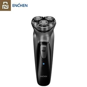 Image 1 - Youpin Enchen שחור אבן 3D חשמלי מכונת גילוח גוזם ראש חסימת הגנת תער רחיץ סוג C נטענת עבור גברים מתנה